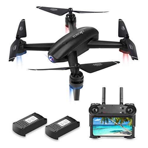 allcaca RC Quadcopter Drone con Telecamera FPV Drone HD Camera 720P WiFi VR modalità Senza Testa, Flip 3D, 2 Batterie Incluse, Nero