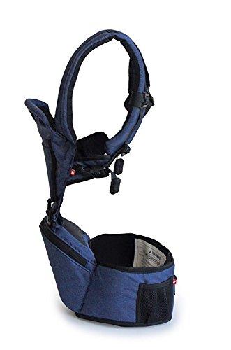 Portabebés para Niños y Recién nacidos hasta 20 kilos MiaMily HIPSTER+, Mochila para bebé Senderismo con 9 Posiciones y Diseño Ergonómico con protección para las caderas del bebé o niño (Gris) 1