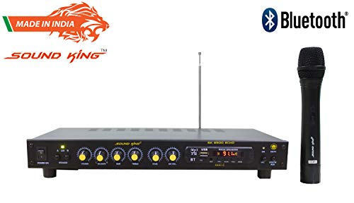 Sound King Sk-8500 Echo Bluetooth Karaoke 4-CH Mixer Amplifier With Cordless Microphone (Made In India)