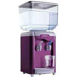 Jocca Dispensador de Agua con Depósito, Plástico, Blanco y Morado, 7 l, 4 Unidades