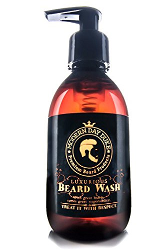 Shampoo barba detergente morbido - Modern Day Duke Sapone per il lavaggio della barba di lusso, XL 200ml - contenente Aloe, Cedarwood e Lime - Pulisce e condiziona delicatamente, promuovendo una crescita sana per barbe pulite, morbide e piene