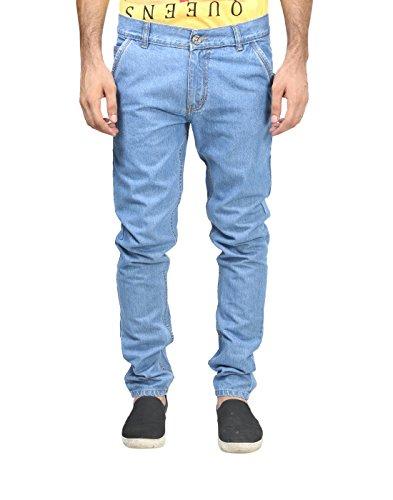 Trendy Trotters Mens Denim Jeans (Ttj1Crsnl-L32. _Light Blue _32)