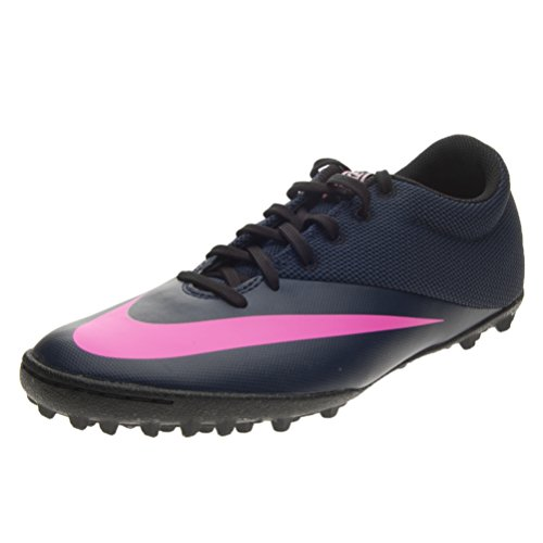Nike Men's MercurialX Pro Tf Turf Soccer Shoe (8 D(M) US, Midnight Navy/Pink Blast/Racer Blue/Midnight Navy)