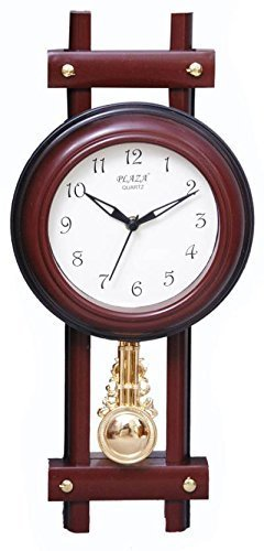 Bella Ravishing Plaza Round Design Pendulum Wall Clock