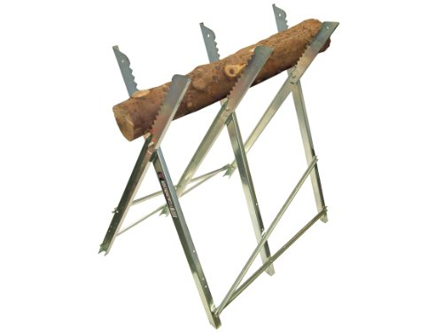 Do you happen to have large logs and you need a saw horse at an affordable price? The Faithfull Saw Horse Folding Trestle Galvanised can make a good option. It is simply made to offer adequate support as you saw through chunks of wood. It is a foldable design and therefore up will take up little space wherever you decide to put it. As indicated before, this is suitable for large logs. Since the width cannot be adjusted, smaller logs cannot be supported. The price is fair for the value that this saw horse will add to your work.