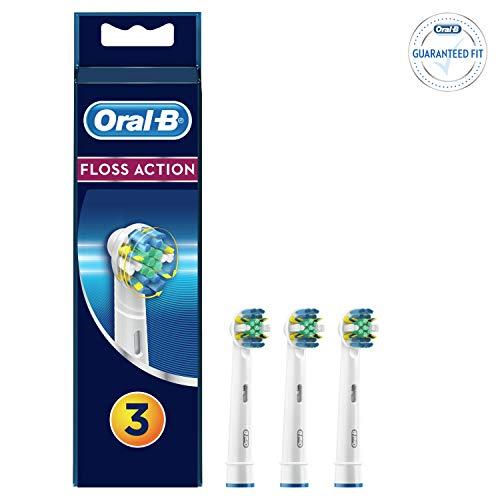 Oral-B FlossAction Cabezal de Recambio Para Cepillo de Dientes Eléctrico 3Uds.