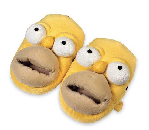 Unitedlabels 0807007 - Zapatillas de estar por casa diseño Homer Simpson, tamaño 44-46 [Importado...