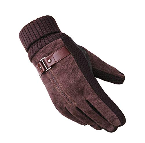 Aooaz Guanti Invernale ispessimento invernale più velluto caldo guanti di cinghiale vera pelle di...