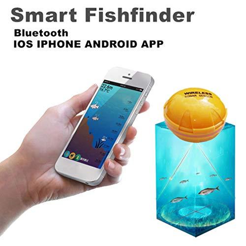 1 * ecoscandaglio Senza Fili Fishfinder Fish Lake Sea Fish Rileva iOS Android App Trova ecoscandaglio per Pesci Spedizione Gratuita!