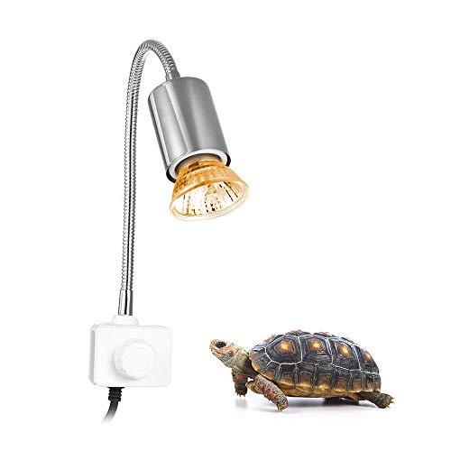 Decdeal Basking Lampada Alogena Calore 25W UVA UVB per Rettili Lucertola Tartaruga Acquario