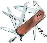 Victorinox Holz Taschenmesser Evolution Wood 17 (13 Funktionen, Holzsäge, Korkenzieher)