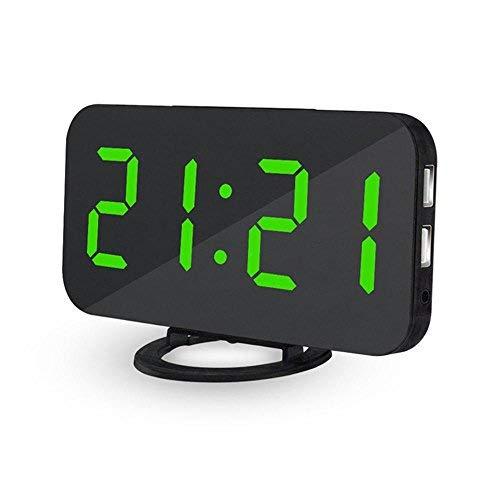Sveglia digitale da comodino a corrente Teepao orologio digitale con ampio display LED da 6,5...
