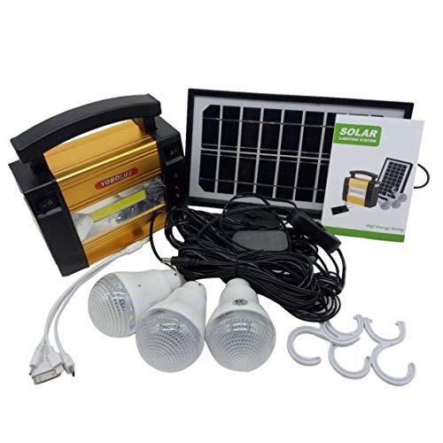 Generador de Poder del Almacenamiento del Panel Solar del tamaño portátil Generador de Sistema al Aire Libre Que acampa del Poder casero para los bulbos del LED