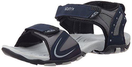 Matrix Men's Navy and Grey Sandals and Floaters - 8 UK (MSP 1467)