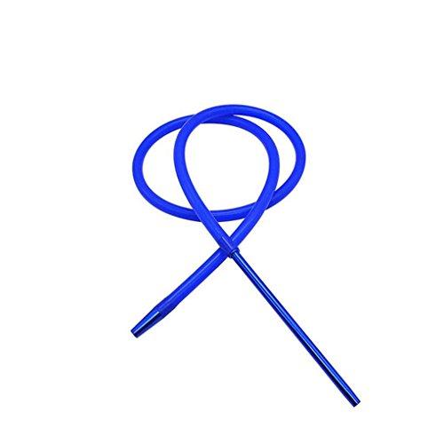 Deinbe 1.8M Hookah Shisha Manguera de Aluminio con vástago de la Manguera del silicón Shisha cachimba de la Manguera Pipa Moderno Azul
