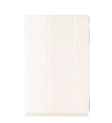 Funda Teclast P10 Octa Core Tablet Case-Slim Funda de cuero Smart Cover Funda con función de soporte para Teclast P10 Octa Core 10.1 inch Tablet-Blanco