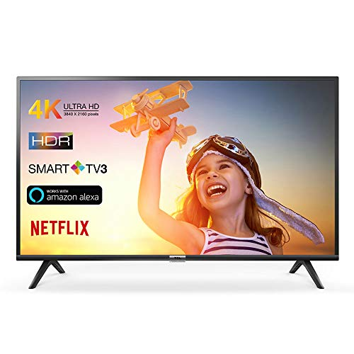 TCL 43DP602 televisore 43 pollici (Smart TV, 4K UHD, HDR, Dolby Digital Plus, T-Cast, Triple Tuner)...