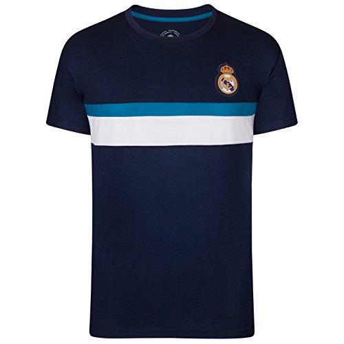 Real Madrid - Camiseta Oficial para Entrenamiento - para Hombre - Poliéster - Azul Marino - L