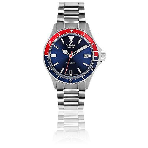 Yema Pro Diver Blue, orologio da uomo, automatico, movimento Yema ambra MBP 1000, vetro zaffiro, 30...