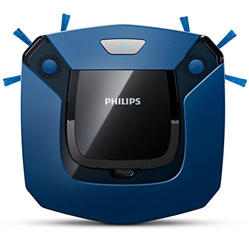 Philips FC8792/01 SmartPro Easy Robot Aspirapolvere, 600 Pa, 0.4 l, Sistema di Pulizia in 2 Fasi, Nero/Blu