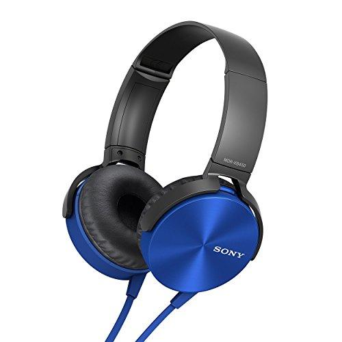 Sony MDR-XB450 On-Ear EXTRA BASS Headphones (Blue)