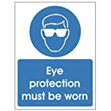 Eye Protection Must Be Worn 150x200 Self Adhesive