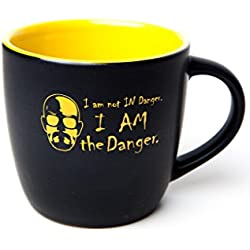 I am the Danger Ceramic Black and Yellow Coffee Mug inspired by Breaking Bad & Walter White