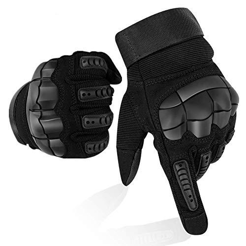 Guanti Moto Full Finger Touch Screen Guanti Sportivi da Esterno Hard Knuckle Protettivo per Moto...
