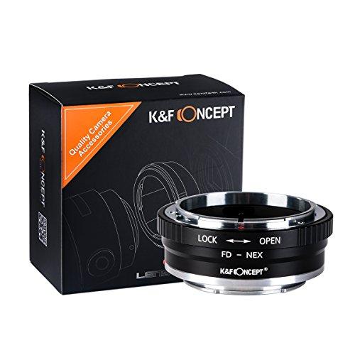 K&F Concept® FD-NEX II Kupfer-Bajonett Objektivadapter,Adapter Ring,Canon FD Adapter,Objektiv Adapterring für Canon FD Objektiv auf Sony Alpha NEX E-Mount Kamera Sony Alpha NEX-7 NEX-6 NEX-5N NEX-5