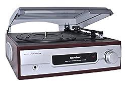 Kaufen Karcher KA 8050 Plattenspieler mit eingebauten Lautsprechern silber