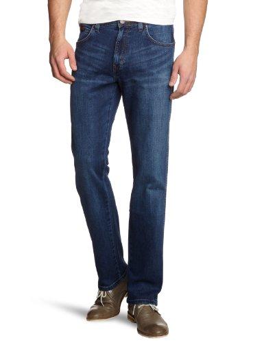 Wrangler-Herren-Jeanshose-Classic-Straight-Fit-Blau-Burnt-Blue-39E-W36L30