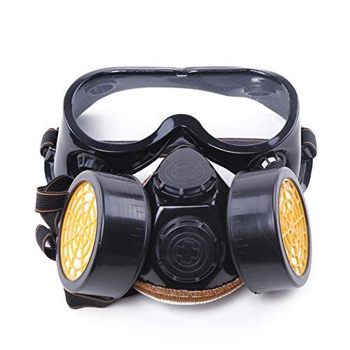 SHAFIRE Industrial Gas Chemical Anti-Dust Paint Respirator Mask Glasses/Goggles Set