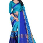 Calendar Cotton Silk Saree With Blouse Piece