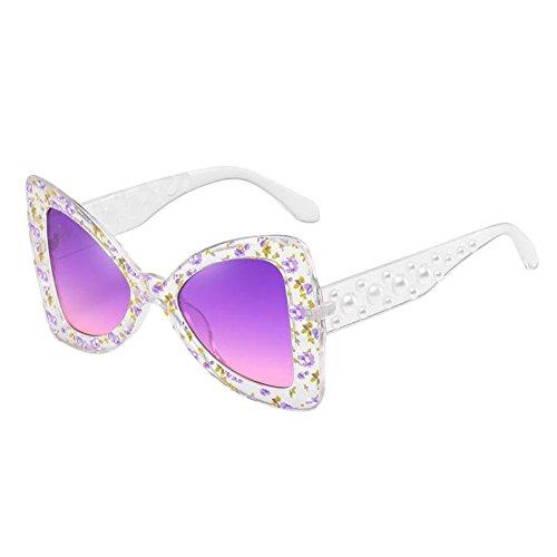 Deylaying Unique Ojo de gato Mariposa Conformado Oversized Retro Gafas de sol Marco grande Estiloso UV Proteccion Los anteojos Polarizado Salirse los ojos Gafas