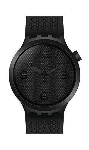 Swatch Herren Analog Quarz Uhr mit Silikon Armband SO27B100