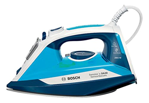 Bosch TDA3028210 Ferro da Stiro A Vapore, 2800 W, 0.32 Litri, Plastic, Bianco/Blu