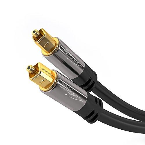 KabelDirekt - Optisches Digitalkabel TOSLINK - 2m - (Toslink auf Toslink optisches Digital-Audiokabel, geeignet für Audioübertragung (Stereoanlage, Heimkino, XBOX One)) - PRO Series