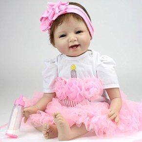 ZIYIUI Realista Muñecas Reborn Bebé 55 cm 22 Pulgadas Recién Nacido Silicona Suave de Vinilo Realista Bebé Reborn Niña…
