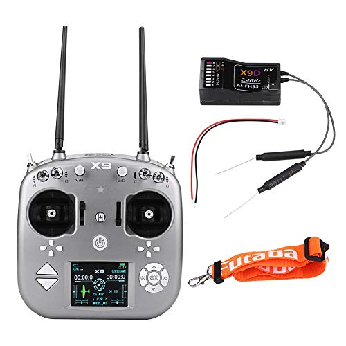 Trasmettitore Radio RC 2,4 GHz, 9 canali AT-FHSS X9D Ricevitore radiocomando Drone Kit per velivoli...