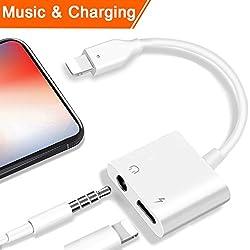 Kaufen Lightning 3.5mm Kopfhörer Jack Adapter für iPhone 7/7 Plus iPhone 8 / 8Plus iPhone X iPad iPod. Beleuchten Sie Verbindungsstück zu 3.5 Millimeter-Zusatzkonverter-Kopfhörer-Jack-Adapter-Zusätzen. Kopfhörer Adapter Kopfhörer Aux Audio & Lade Adapter, Stecker Blitzkabel [Audio + Lade + Musik]. Unterstützen iOS 11 und später.