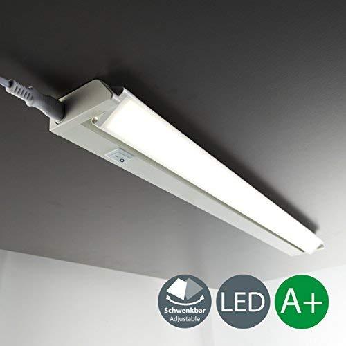 LED Unterbauleuchte Schwenkbar Lichtleiste Küchenleiste LED Küchenleuchte Küchenlampe Schrankleuchte Schranklampe Titan Ein/Ausschalter 56 x 6,1 x 3 cm 8,5 Watt 1000 Lumen
