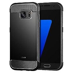Kaufen JETech Hülle für Samsung Galaxy S7 Tasche mit Stoßdämpfung und Carbon Faser (Schwarz)