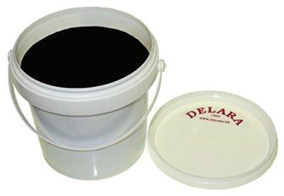 DELARA-Hochwertiger-Pflegebalsam-fr-Leder-mit-Jojoba-Bienenwachs-und-Vanille-Duft-schtzt-Glattleder-wirksam-vor-Austrocknung-und-Oxidation-und-riecht-gut-500-ml-Farbe-Schwarz-Made-in-Germany