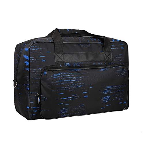 Bolso para Máquina de Coser, HomeYoo Bolsa de nylon universal, Maletas de funda de transporte acolchada universal con bolsillos, asas y la correa para el hombro (Azul)
