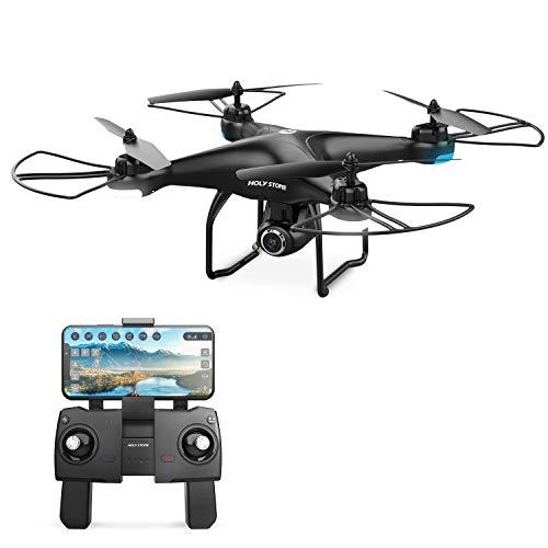 Holy Stone HS120D FPV Drone con Telecamera per Adulti 1080p HD Live Video e GPS Ritorno a casa, RC Quadcopter Elicottero per Bambini Principianti 16 Min Follow Me Selfie Funzioni
