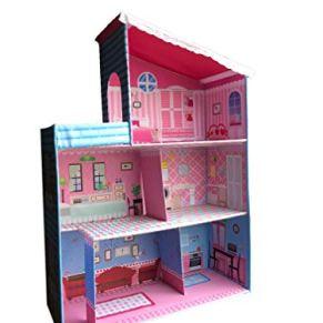 Faultier-Kids Casa de muñecas Plegable casa de Juegos