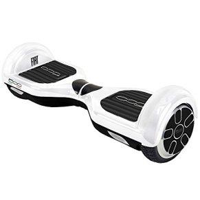 FIAT500 F500-H65W/Wh Hoverboard, Adultos Unisex, Blanco, Talla Única