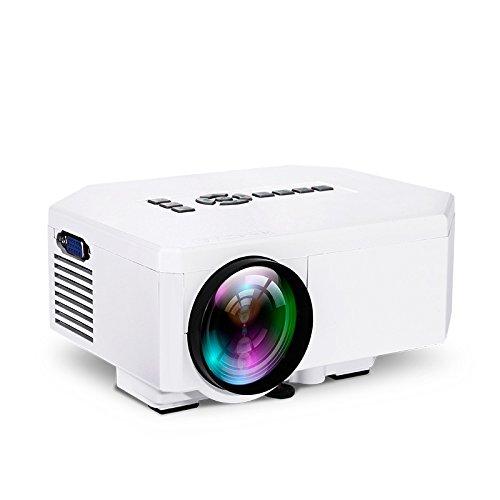 Libina UC30 HD 1080P Proiettore VGA/HDMI/∪ Disk/TF Card/TV/DVD/VCD/Xoox Gioco/Notebook/Desktop/HD Player/Top/Fotocamera Digitale/Mp4/MPS Home KTV Mini Proiettore A LED In Miniatura, Bianco