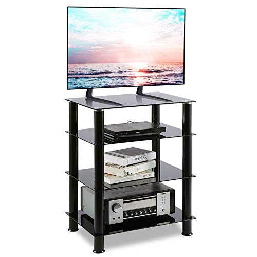 TAVR Furniture Mobili TV Torretta Video Audio in Vetro 4-Tiers Supporto Multimediale TV HF1001 (4...