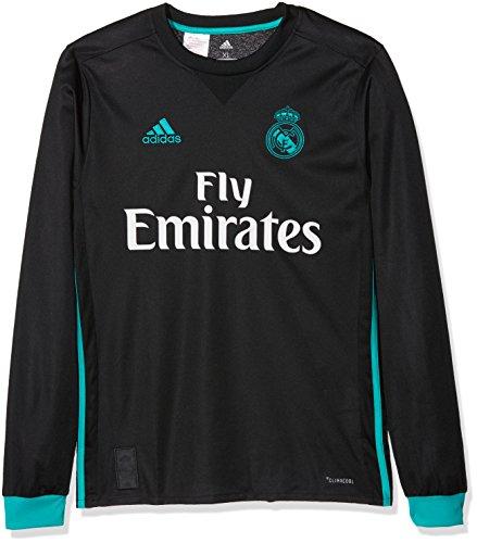 adidas A JSY Y LS Camiseta 2ª Equipación Real Madrid 2017-2018-Champions League, niños, Negro/arraer, 164